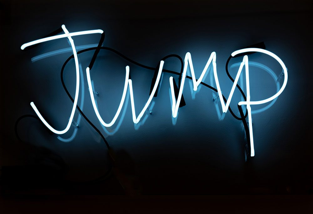 Jump Neon Sign